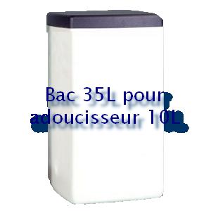 Bac à sel carré 35L pour adoucisseur 10L