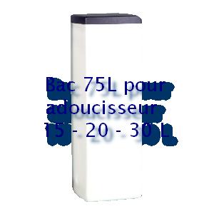 Bac à sel carré 35L pour adoucisseur 15 - 20 - 30 L