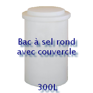 Bac à sel rond avec couvercle 300L