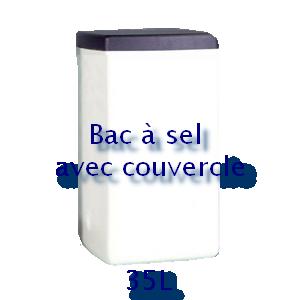 Bac à sel carré avec couvercle 35L