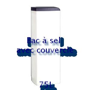 Bac à sel carré avec couvercle 75L