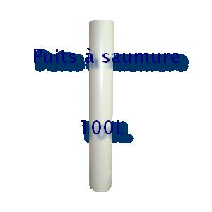 Puits pour aspiration dans un bac à sel 100L
